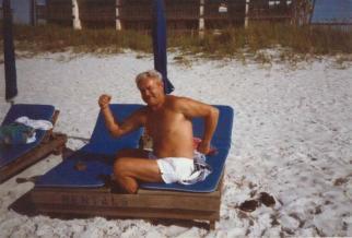 Pa at the beach