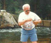 Pa loves to fish a lot