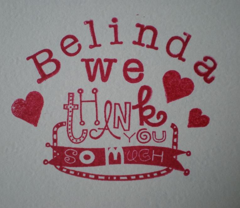 Belinda..thank you