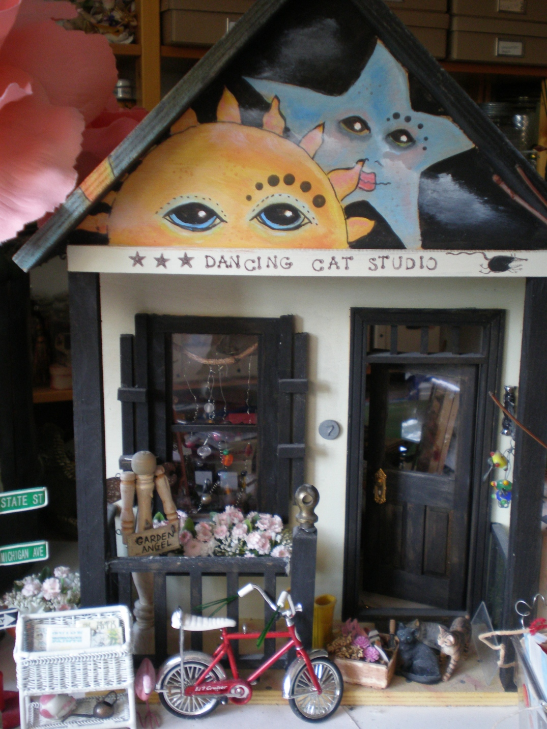 Front of dollhouse