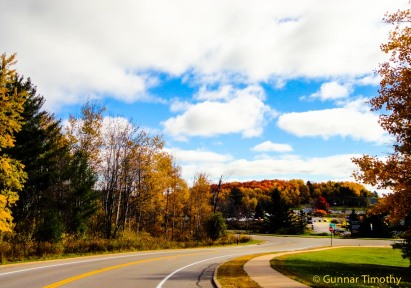 Autumn drive in Wisconsin~photo by Gunnar Timothy