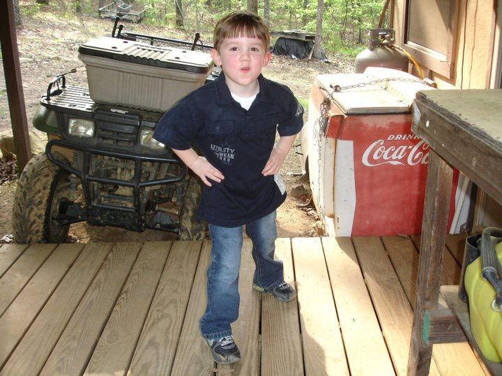 Ezra always has a blast at the cabin. Please not the coke machine changed down. Such a man thing! Nobody touch my stuff!