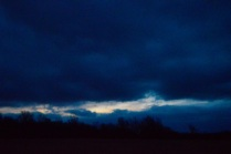 It looked like a painting as the dark and the light mixed together.