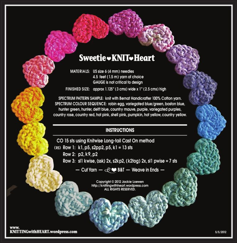 Sweetie•KNIT•Heart colour
