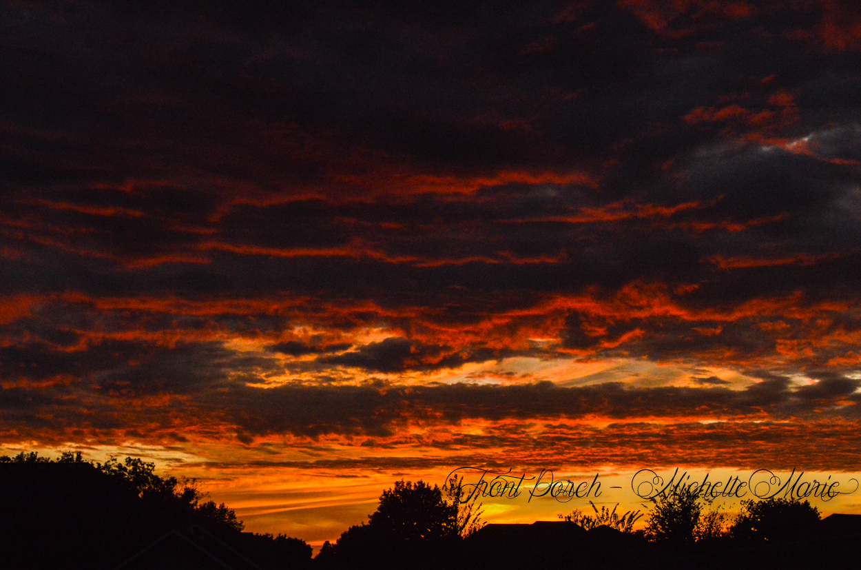 Oklahoma skies, Front Porch sitting