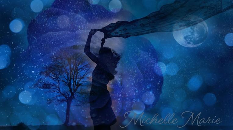 Blue art, caught between